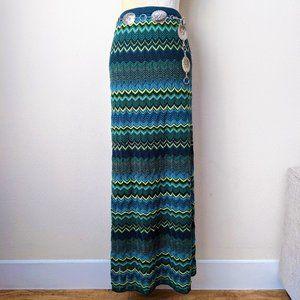 Double D Ranch Chevron Knit Maxi Skirt • XL